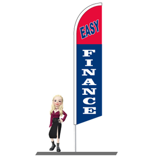 Easy Finance Feather Flags 15ft