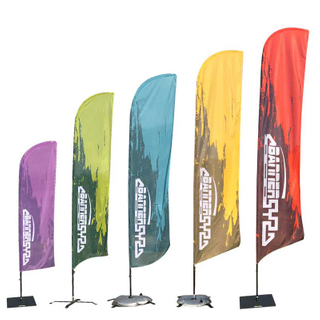Single Sided Double Sided Custom Feather Flags Banners Indoor Outdoor